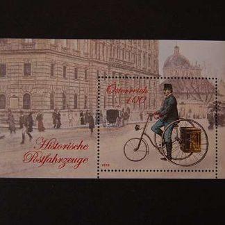 Österreich 2016 Block Historische Postfahrzeuge postfrisch ANK 3309