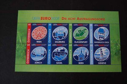Österreich 2008 UEFA Euro 2008 Block postfrisch ANK. 2725 - 2732