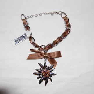 Edelweiss Trachten Armband,topaz, mit Anhänger und Schleife