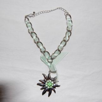 Edelweiss Trachten Armband,mintgrün, mit Anhänger und Schleife
