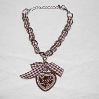 Edelweiss Trachten Damen und Herren Armband Messing 19 cm braun