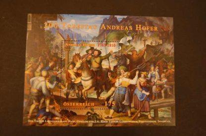 Österreich 2010 Andreas Hofer Block postfrisch ANK. 2884