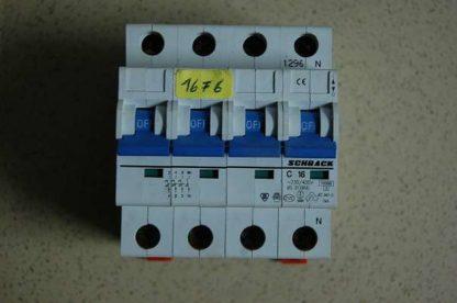 Schrack Sicherungsautomat C16 3/N