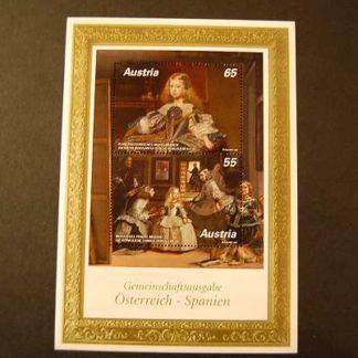 Österreich 2009 Velazquez Gemeinschaftsa. mit Spanien Block 2865 - 2866 postfrisch