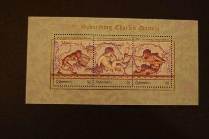 Österreich 2009 Charles Darwin Block postfrisch ANK. 2872 - 2874