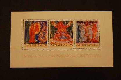 Österreich 2009 Das Rosenkranz Triptychon Block ANK. 2856 - 2858