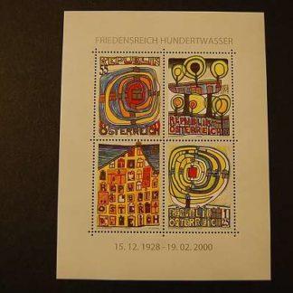Österreich 2008 80 Geb. v. Friedensreich Hundertwasser Block postfrisch ANK. 2792 - 2795