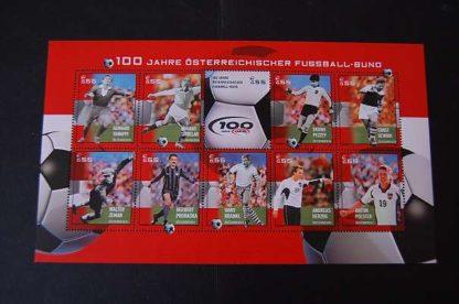 Österreich 2004 100J Österr. Fußballbund Block postfrisch ANK. 2494 - 2503