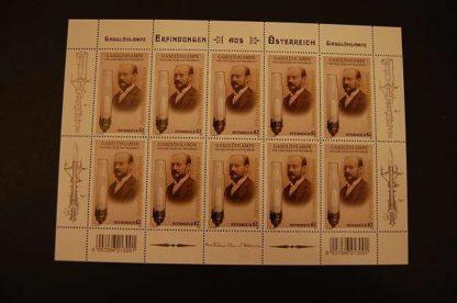 Österreich 2012 Erfinder Carl Auer von Welsbach Kleinbogen ANK. 3060 postfrisch
