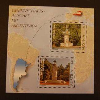 Österreich 2010 Gemeinschaftsausgabe 200J. Argentinien Block postfrisch ANK. 2926 - 2927