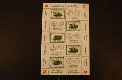 Österreich 2001 Tag der Briefmarke Kleinbogen postfrisch ANK 2379