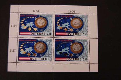 Österreich 2002 Euro Einführung Kleinbogen ANK .2402