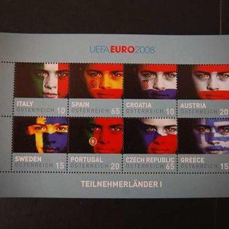 Österreich 2008 UEFA Euro 2008 Block postfrisch ANK 2762 - 2769
