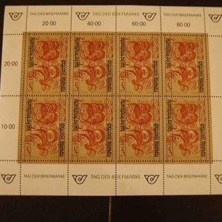 1991 Österreich Tag der Briefmarke Kleinbogen postfrisch ANK 2063