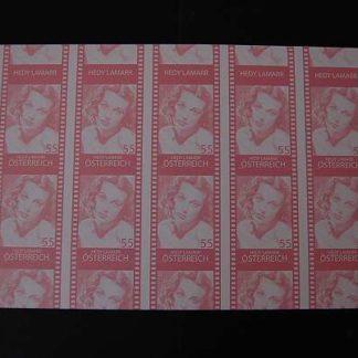 Österreich 2011 Österreich in Holywood Hedy Lamarr Buntdruck Kleinbogen ANK.2940
