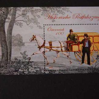 Österreich 2015 Block Historische Postfahrzeuge postfrisch ANK 3252