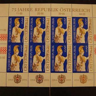 Österreich 1993 75 Jahre Rep. Österreich Kleinbogen postfrisch ANK 2143