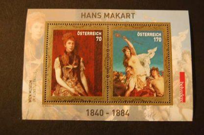 Österreich 2011 Hans Markart Block postfrisch 2968 - 2969