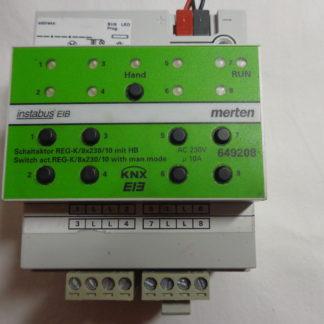 Merten instabus Schaltaktor REG-K/2x230/10 mit Handbetätigung 649208