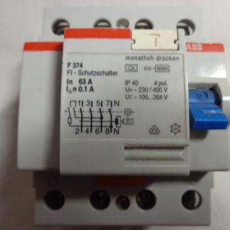 ABB F374  63A  01A FI  Schutzschalter