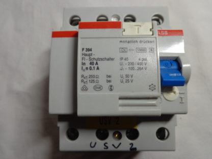 ABB F 394 Haupt - FI - Schutzschalter 40A 0,1