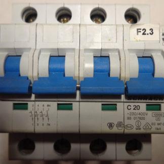 Schrack C20 3+N Sicherungsautomat