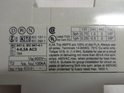 ABB MS 325 Motorschutzschalter 4,0 - 6,3