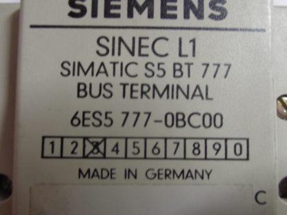 Siemens Sinec L1 Bus Terminal simatic  6ES5 777-OBC00