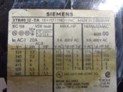 Siemens 3TB40 12 - 0A Schütz 220V