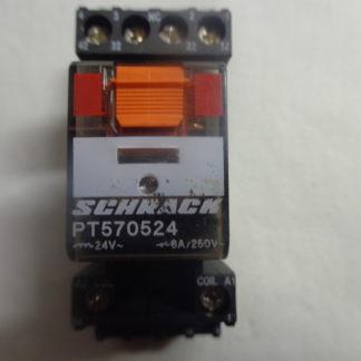 Schrack PT570524 Relais mit Sockel