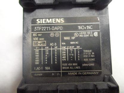 Siemens 3TF2211-0AP0 Schütz