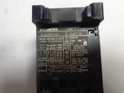 Siemens 3UA7021-0J Überlastrelais 0,63 - 1A