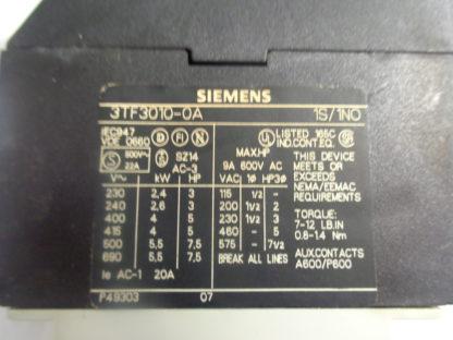 Siemens 3TF3010-0A Schütz 220V 50HZ