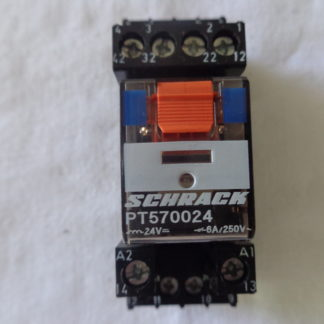 Schrack PT570024 Relais + Schrack YPT78704 Sockel