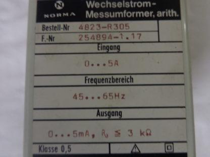 Norma Wechselstrom Messumformer, arith