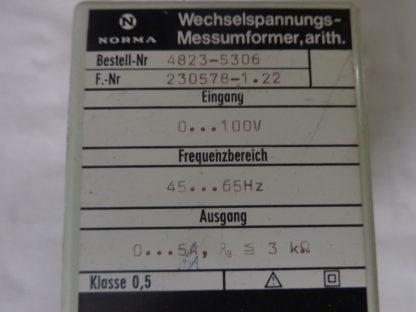 Norma Wechselspannungs - Messumwandler, arith.