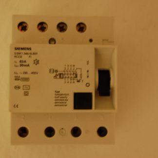 Siemens FI Schutzschalter 5SM1 346 OLB01 63 A 30mA RCCB