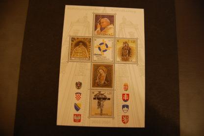 Österreich 2004 Mitteleuropäischer Katholikentag Block postfrisch ANK. 2510 - 2515