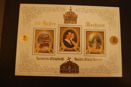 Österreich 2004 150 Jahre Hochzeit Elisabeth und Franz Joseph Block postfrisch ANK. 2507 - 2509