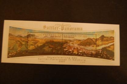 Österreich 2005 Sattler Panorama Block postfrisch ANK.2591-2592