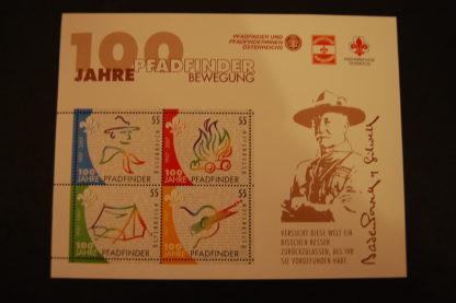 Österreich 2007 100 J. Pfadfinder Block postrisch 2663-2666