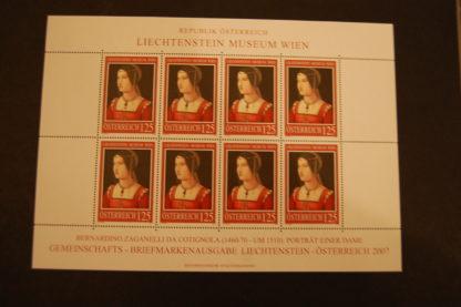 Österreich 2007 Lichtenstein Museum Kleinbogen 2668