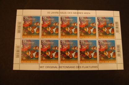 Österreich 2007 50J. Haus des Meeres postfrisch Kleinbogen ANK 2722