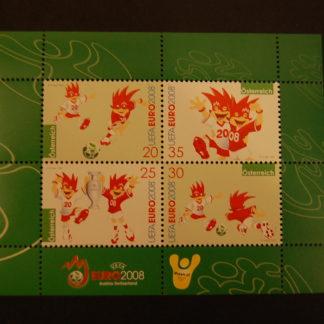 Österreich 2007 UEFA  Euro 2008 Block postfrisch ANK 2692 - 2695