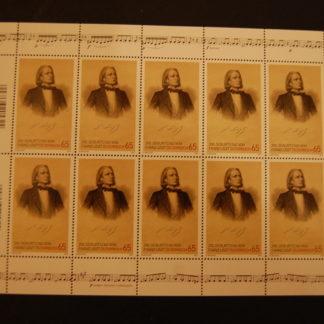 Österreich 2011 Franz Liszt Kleinbogen postfrisch ANK 2939