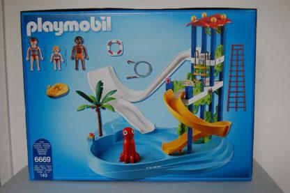 PLAYMOBIL 6669 Aquapark mit Rutschentower
