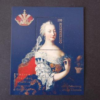 300. Geburtstag Maria Theresia - Briefmarken-Block postfrisch, Österreich 2017