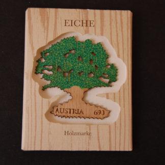 1. Eichen-Holz-Briefmarke - Briefmarke postfrisch, Österreich 2017