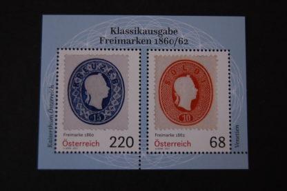 Klassikausgaben: Freimarken 1860/62 - Briefmarken-Block postfrisch, Österreich 2017