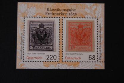 Österreich 2016 Klassikausgabe Block postfrisch ANK 3289-3290